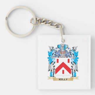 Kelly- Coat of Arms - Family Crest Single-Sided Square Acrylic Keychain