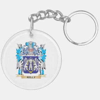 Kelly Coat of Arms - Family Crest Double-Sided Round Acrylic Keychain