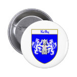Kelly Coat of Arms/Family Crest Pinback Button