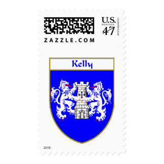 Kelly Coat of Arms/Family Crest Postage Stamp