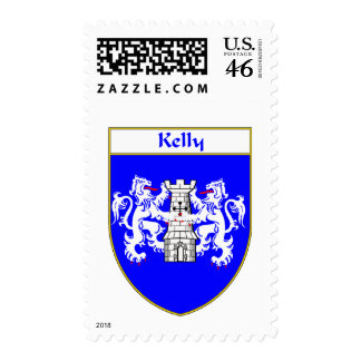 Kelly Coat of Arms/Family Crest Stamp