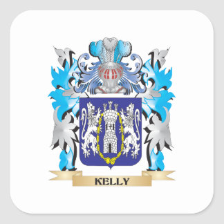 Kelly Coat of Arms - Family Crest Stickers