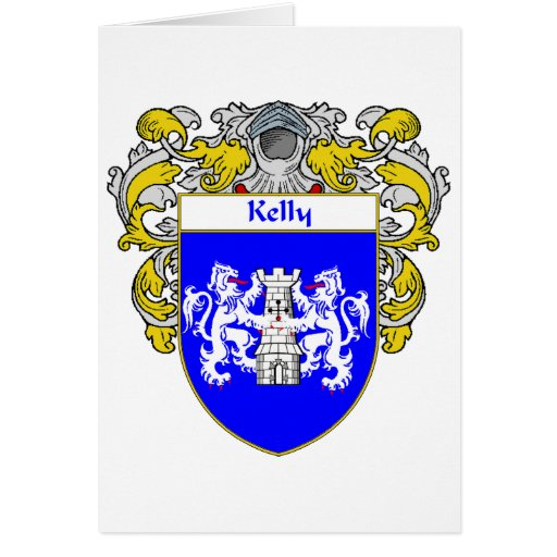 Kelly Coat of Arms (Mantled) Card