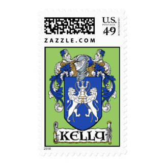 Kelly Coat of Arms Postage Stamps