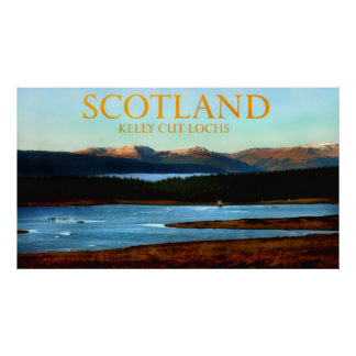 kelly cut lochs scotland poster