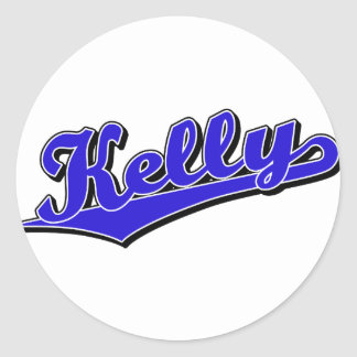 Kelly en azul pegatina redonda