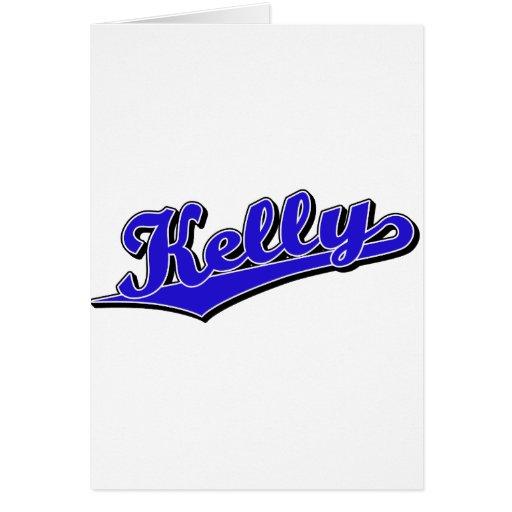 Kelly en azul tarjeta de felicitación
