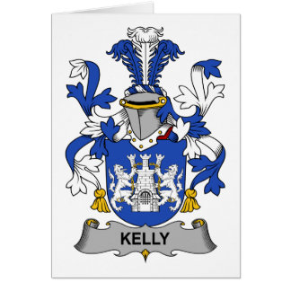 Kelly Family Crest Greeting Card