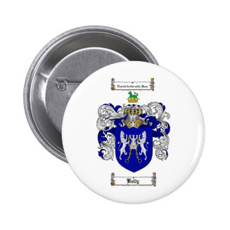 KELLY FAMILY CREST -  KELLY COAT OF ARMS PINBACK BUTTON