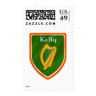 Kelly family crest kelly family name postage