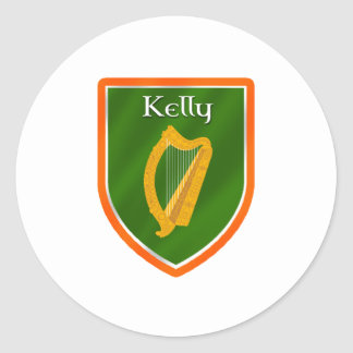 Kelly family crest kelly family name round stickers