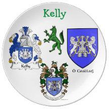 Kelly Family Porcelain Plate