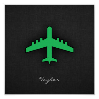 Kelly Green Airplane Poster