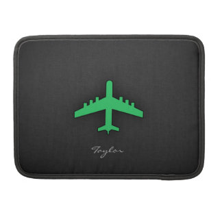 Kelly Green Airplane Sleeve For MacBooks