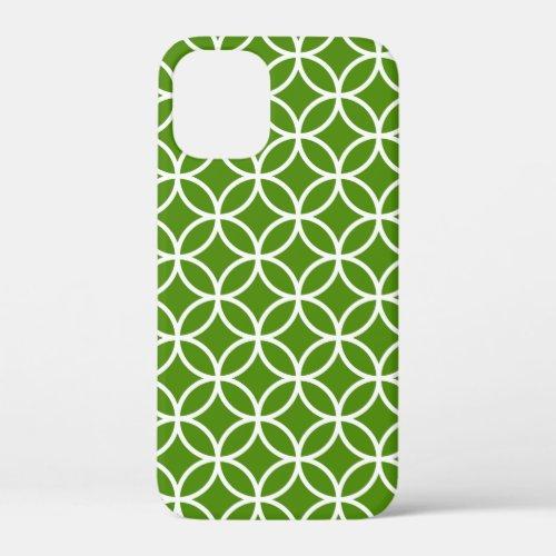 Kelly Green and White Modern Geometric Pattern Phone Case