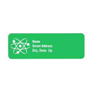 Kelly Green Atom Label