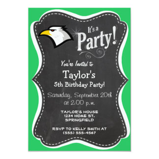 Kelly Green Bald Eagle 5x7 Paper Invitation Card