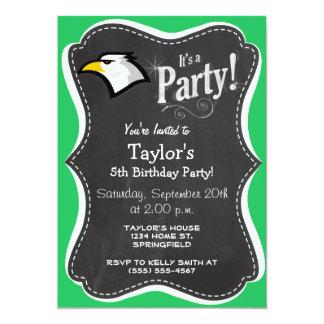Kelly Green Bald Eagle Card