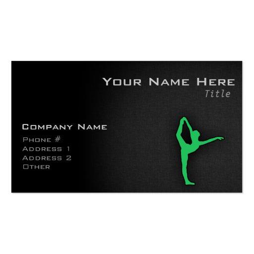 Kelly Green Ballet Dancer Business Card Templates