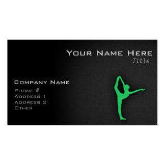 Kelly Green Ballet Dancer Double-Sided Standard Business Cards (Pack Of 100)