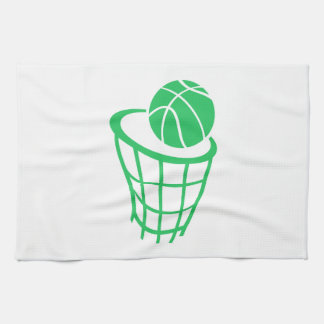 Kelly Green Basketball Hand Towels