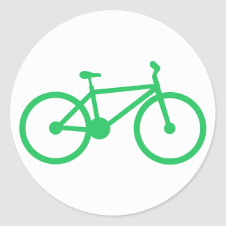 Kelly Green Bicycle Classic Round Sticker