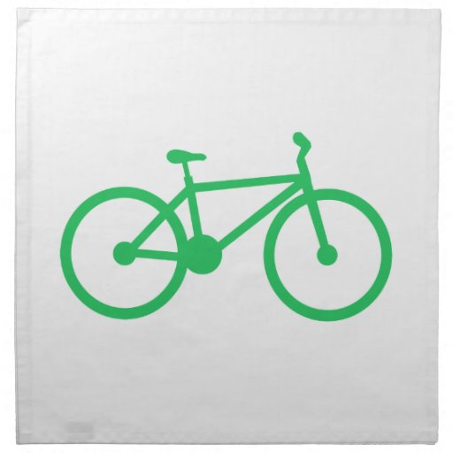 Kelly Green Bicycle Cloth Napkin