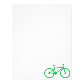 Kelly Green Bicycle Personalized Letterhead