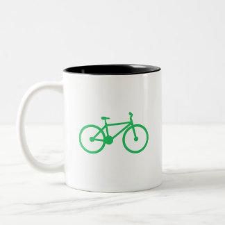 Kelly Green Bicycle Two-Tone Coffee Mug