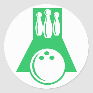 Kelly Green Bowling Classic Round Sticker