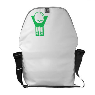 Kelly Green Bowling Courier Bag