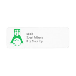 Kelly Green Bowling Label