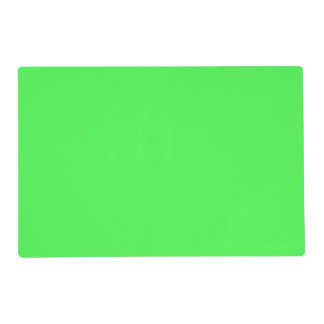 Kelly Green Bright Spring Neon 2015 Color Trend Placemat