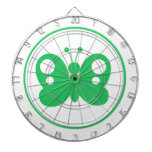 Kelly Green Butterfly Dartboard With Darts