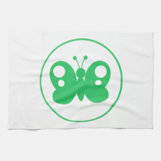 Kelly Green Butterfly Hand Towels