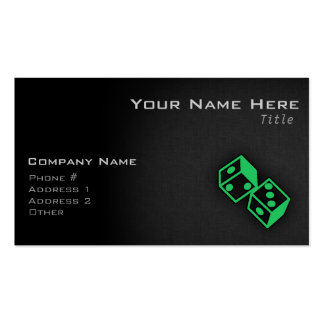 Kelly Green Casino Dice Business Card