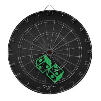 Kelly Green Casino Dice Dart Board