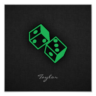 Kelly Green Casino Dice Poster