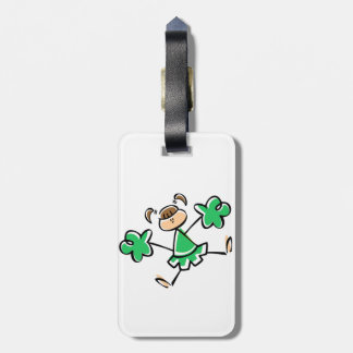 Kelly Green Cheerleader Bag Tags