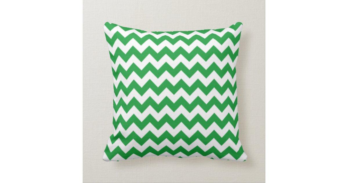 Kelly Green Throw Pillow : Kelly Green Chevron Stripes; Chalkboard look Throw Pillow Zazzle