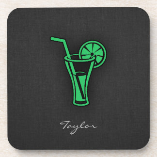 Kelly Green Cocktail Drink Coaster