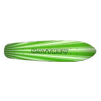Kelly green Color Stripe Funky Pattern Skateboard Deck