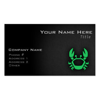 Kelly Green Crab Business Card