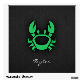 Kelly Green Crab Wall Sticker