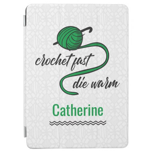 Kelly Green Crochet Fast, Die Warm iPad Air Cover