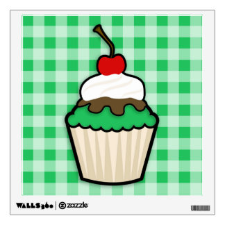 Kelly Green Cupcake Room Stickers