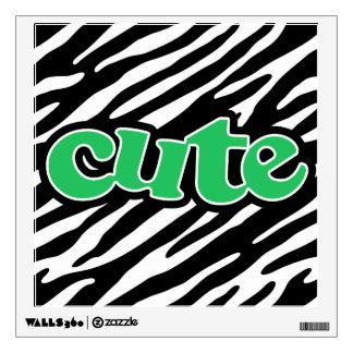 Kelly Green CUTE Zebra Print Wall Sticker