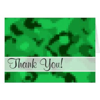 Kelly Green Digital Camo; Camouflage Card