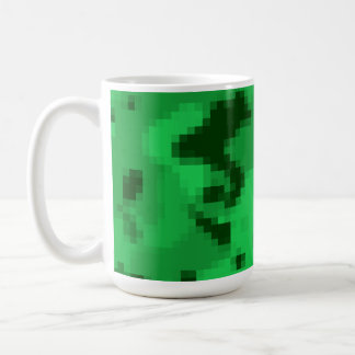 Kelly Green Digital Camo; Camouflage Classic White Coffee Mug