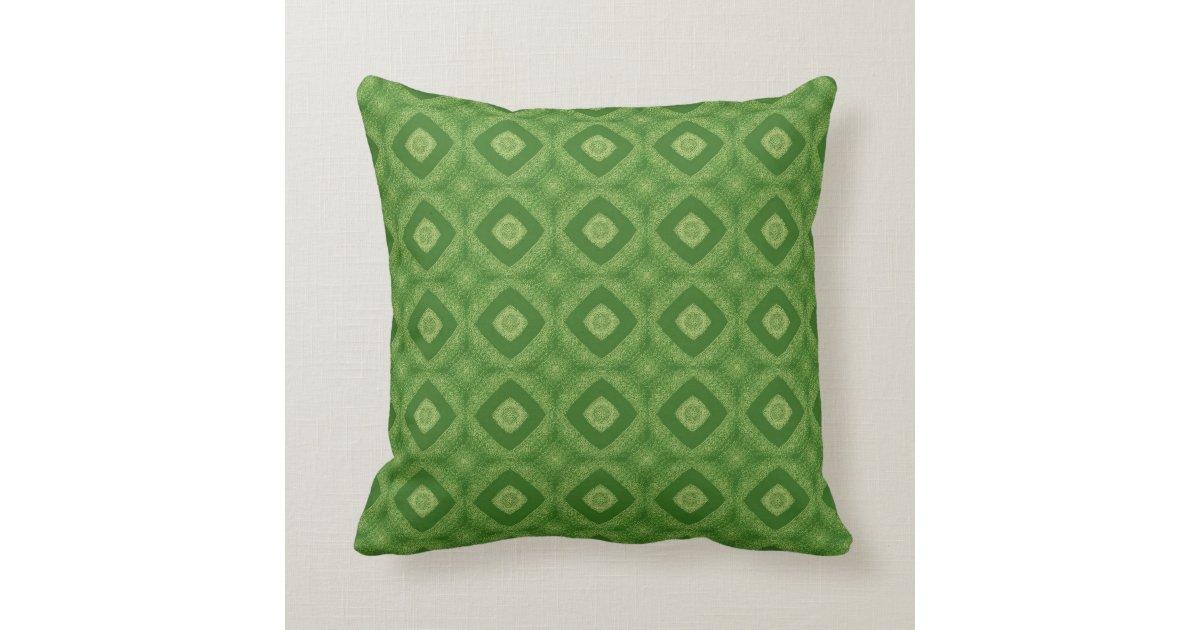 Kelly Green Throw Pillow : Kelly Green Double Diamond Pattern D023 Throw Pillow Zazzle